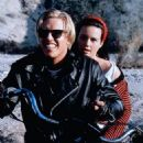 Carla Gugino and Jake Busey