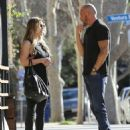 Actor Dominic Purcell cozies up to a mystery girl after enjoying lunch with her at Granville in Studio City, California on January 14, 2015 - 454 x 570