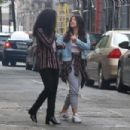 Brittany Snow DeWanda Wise and Gina Rodriguez – On the Set of 'Someone Great' in NY - 454 x 303