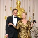 Colin Firth and Meryl Streep At The 84th Annual Academy Awards - Press Room (2012)