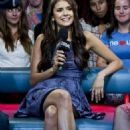 Nina Dobrev dropped by New.Music.Live yesterday, September 27, in Toronto