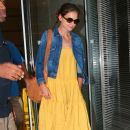 Katie Holmes visits a lawyers office in New York, NY on July 7th, 2012