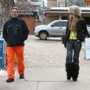 Elle Macpherson spotted out and about in Aspen, Colorad on December 20, 2014