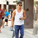 Derek Hough enjoys some solo shopping in Beverly Hills, California on September 9, 2015 - 454 x 590