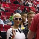 Amber Rose Supporting New Boyfriend James Harden at the Houston Rockets Vs the Portland Trail Blazers at the Toyota Center in Houston, Texas - February 8, 2015 - 454 x 809