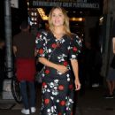 Dianna Agron in Floral Dress at Broadway Theatre in New York