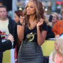 Tyra Banks On The Set Of Good Morning America In Nyc