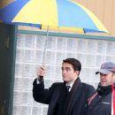 Robert Pattinson on the set of Life in Toronto, Canada (February 19, 2014)