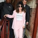 Selena Gomez in Pink Suit – Out and about in London