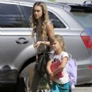 'Machete Kills' actress takes her daughter Honor to lunch before stopping by her office in Santa Monica, California on August 27, 2013