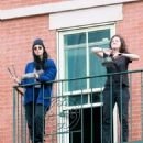 Sarah Silverman – Cheers again for Essential Workers from her fire escape in NY