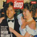 Don Johnson, Melanie Griffith - News of the World Sunday Magazine Cover [United Kingdom] (27 August 1989)