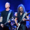 Metallica performs at Sirius XM at the Apollo Theater on September 21, 2013 in NYC