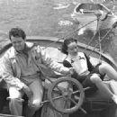 Dolores del Rio and Orson Welles  sail to Catalina Island off the coast of California circa 1940 - 454 x 328