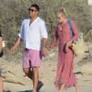 Love island! Ronaldo and his girlfriend, Celina Locks, couldn't stay away from Formentera, as they returned to its shores, on Tuesday - 454 x 513
