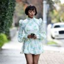 Kat Graham in Mini Dress – Out in Los Angeles - 454 x 532