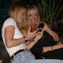 Bar Refaeli in Jeans at a friend's birthday at Kyoto in Herzliya - 454 x 380