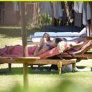 Caroline Wozniacki in Bikini at a pool in in Italy - 454 x 304