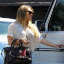 Hilary Duff and her sister Haylie were spotted out in Burbank, CA yesterday, August 28