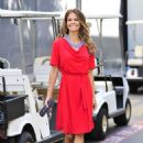 Brooke Burke in Red Dress at Universal Studios in LA - 454 x 681