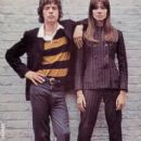 Françoise Hardy and Mick Jagger