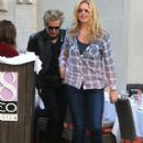 Rod Stewart and Penny Lancaster spotted out for lunch at the 208 Rodeo Restaurant in Beverly Hills, California on January 13, 2015 - 416 x 594