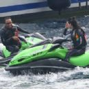 PICTURE EXCLUSIVE All aboard the love boat! Bikini-clad Kendall Jenner, 19, relaxes on a mega yacht in Monaco with rumoured love interest Lewis Hamilton... and gal pals Gigi, Bella and Hailey