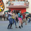 The cast of Victorious took part in a flash mob last night, September 16, at the Universal CityWalk in Universal City, CA