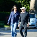 Madelaine Stowe – Out for a stroll with husband Brian Benben in Pacific Palisades