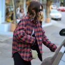 Kendall Jenner – Out for a coffee at Alfred Coffee in West Hollywood