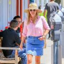 Reese Witherspoon in Jeans Skirt – Out in Los Angeles - 454 x 636