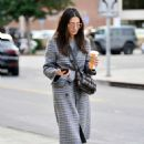 Jessica Gomes in Grey Long Coat – Out in LA - 454 x 613