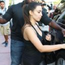 Kim Kardashian: arriving Miami International airport from Frankfurt