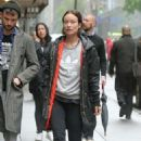 Olivia Wilde and Tom Sturridge Arrive at the Hudson Theatre in NY - 454 x 681