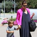 Kourtney Kardashian spent some quality time with son Mason Disick and friends in Los Angeles, CA on June 23rd, 2012