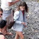 Emilia Clarke seen on her holiday break out in Positano