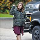Sophia Bush – On set of her new TV show 'Surveillance' in Vancouver - 454 x 578