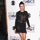 Lea Michele poses in the press room during the People's Choice Awards 2016 at Microsoft Theater on January 6, 2016 in Los Angeles, California