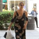 Ashley Greene in Long Summer Dress out in Los Angeles