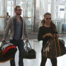 Alicia Vikander and Michael Fassbender at Toronto Airport July 18, 2017 - 454 x 407