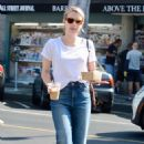 Emma Roberts in White T-shirt – Out in Los Angeles