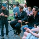 Director Ron Howard, Russell Crowe, producer Brian Grazer and screenwriter Akiva Goldsman on the set ofUniversal's A Beautiful Mind - 2001