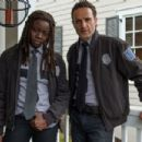 Danai Gurira and Andrew Lincoln