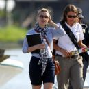 Scarlett Johansson And Ryan Reynolds Take A Boat Ride Out To The BP Oil Spill In Louisiana - May 31, 2010