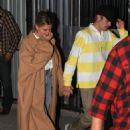 Hailey and Justin Bieber – Leave night church service in Beverly Hills - 454 x 681