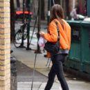 Emily Ratajkowski in Orange Jacket – Out in NYC