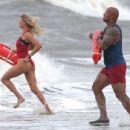 Dwayne Johnson- March 30, 2016-Stars Film Scenes on the Set of 'Baywatch'