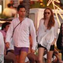 Lily Cole and Enrique Murciano  in St. Barthelemy - January 1, 2009 - 454 x 660