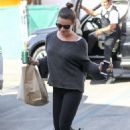 Lea Michele – Arriving at a hair salon in Los Angeles