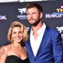 Chris Hemsworth and Elsa Pataky –  Premiere of Disney and Marvel's 'Thor: Ragnarok' - Arrivals